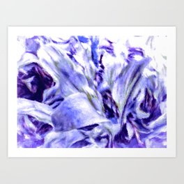 Misty Morning Floral Impressionism Art Print