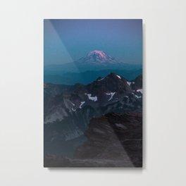 Cool tones mountain snow Metal Print