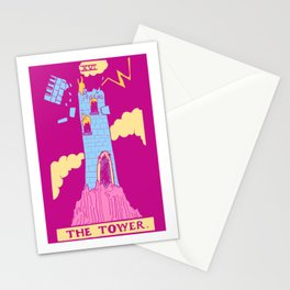 The Tower - A Femme Tarot Card Stationery Cards