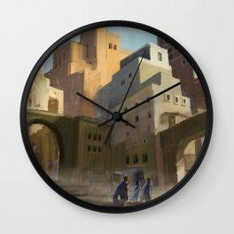 Fantasy Moroccan City Wall Clock