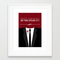 pulp fiction Framed Art Prints featuring Pulp Fiction by Jason Vaughan