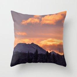 Flat Top Sunrise Throw Pillow