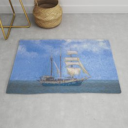 Sailing Ship Palette And Oil Rug