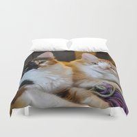 whisky Duvet Covers featuring Whisky and Gypsy - Rescued by talonJstudios