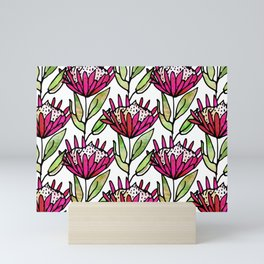 Modern Floral Protea Pink #homedecor Mini Art Print