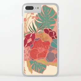 Vintage Floral Tropical - Market + Supply Clear iPhone Case
