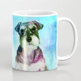 Miniature Schnauzer dogs Watercolor Digital Art Coffee Mug