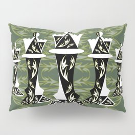 Green and Gold Embellished Queens Pillow Sham