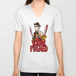 Slasher Mash (NSFW) Unisex V-Neck