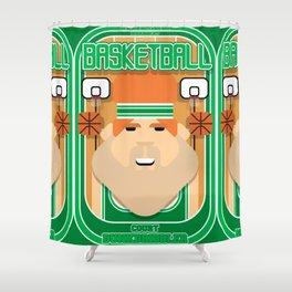 Basketball Green - Court Dunkdribbler - Josh version Shower Curtain