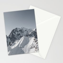 Mountain peaks - Mont Blanc serie 5 - Alps Stationery Cards