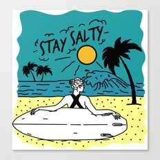 Stay Salty Canvas Print