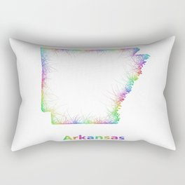 Rainbow Arkansas map Rectangular Pillow