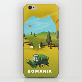Romania Map iPhone Skin