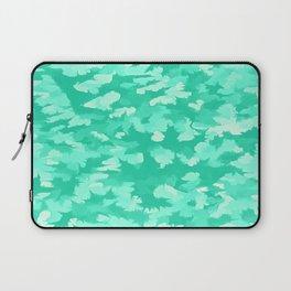 Foliage Abstract  Pop Art Aqua Laptop Sleeve