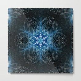 falling star mandala Metal Print