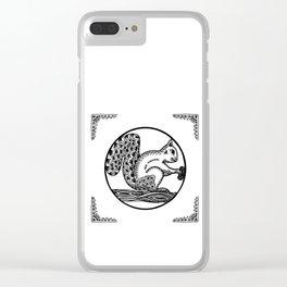 Squirrel by WildArtLine Clear iPhone Case