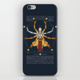 Vitruvian Omnic - color version iPhone Skin