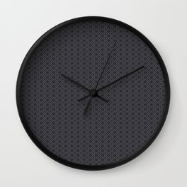 Abstract line pattern, grey Wall Clock