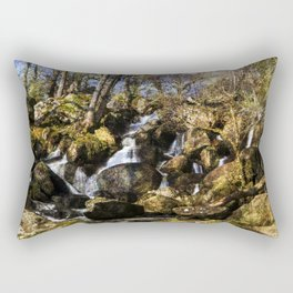 Becky Falls with texture Rectangular Pillow