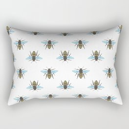 Watercolour Bee Pattern Rectangular Pillow