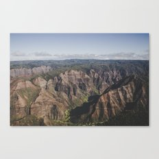 Mountain Valley Canyon - Kauai, Hawaii Canvas Print