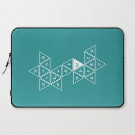 Teal Unrolled D20 Laptop Sleeve