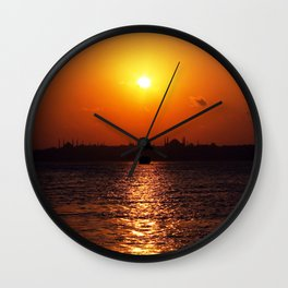sunset in Istanbul Wall Clock