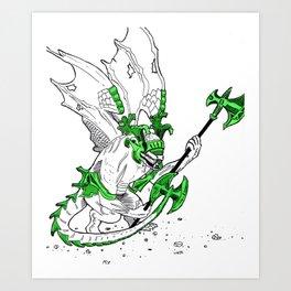 bell gargoyle Art Print