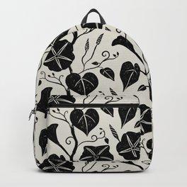 Black Moonflower creeper on neutral Backpack