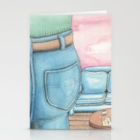 sofa Stationery Cards featuring Butt and Sofa by David Domike