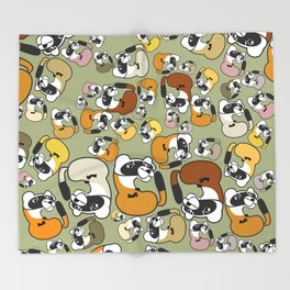 Black Footed Ferret pattern Throw Blanket