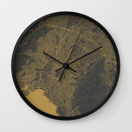 Athens map Wall Clock