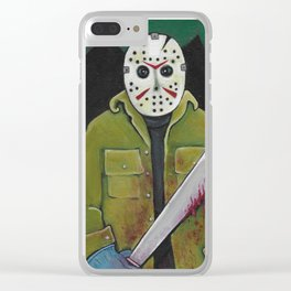 Halloween Party At Camp Blood Clear iPhone Case