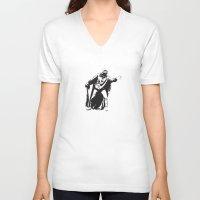 magneto V-neck T-shirts featuring Damien Sandow Magneto by darren90