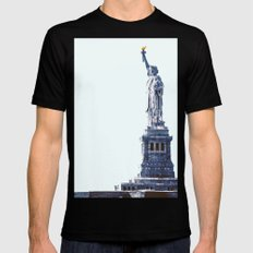 The Lady SMALL Black Mens Fitted Tee