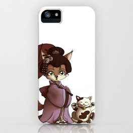 Geisha & Maneki Neko iPhone Case