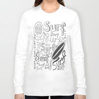 surf Long Sleeve T-shirts featuring Surf by Made by Tom