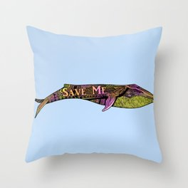 Save the Whales! Throw Pillow