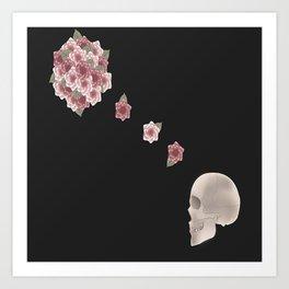 Flourish black print Art Print