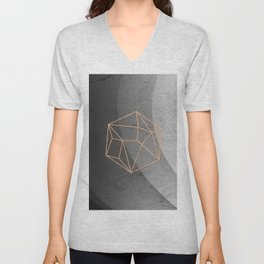 Geometric Solids on Marble Unisex V-Neck