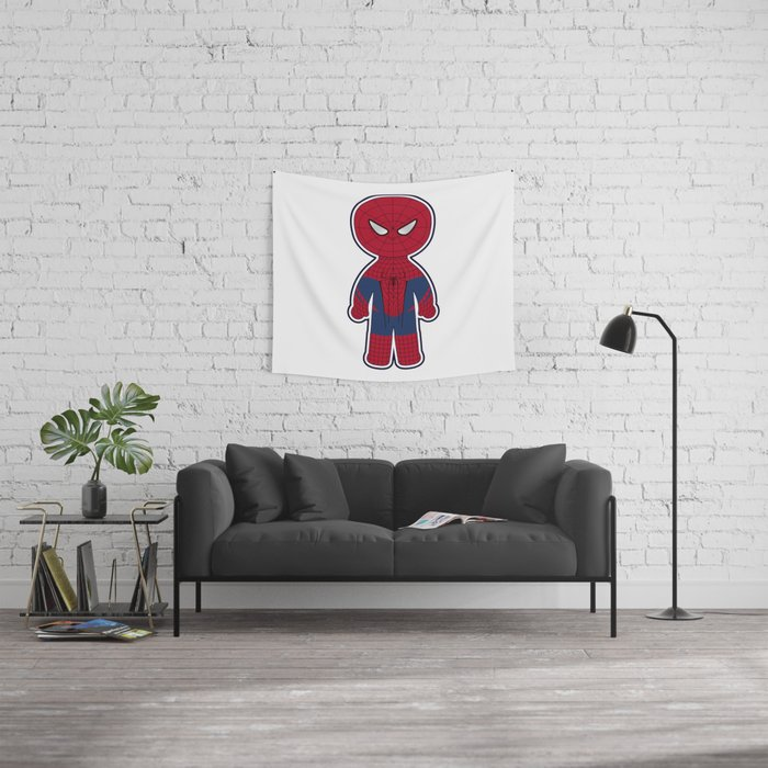 Chibi Spider-man Wall Tapestry
