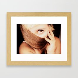 gold look Framed Art Print