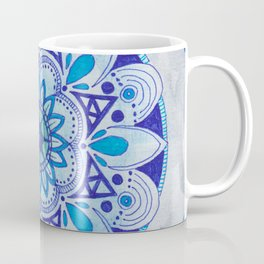 Simpe Blue Mandala Coffee Mug
