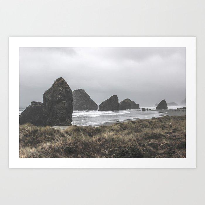 Cloudy Beach Kunstdrucke