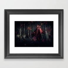 Little Miss Red Riding Hood Framed Art Print