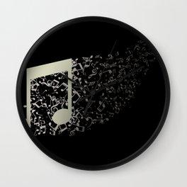 abstract music notes Wall Clock