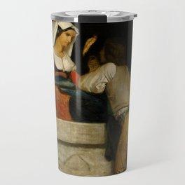 """William-Adolphe Bouguereau """"Italian lovers"""" Travel Mug"""