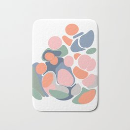 Abstract Shape Flower Art Bath Mat