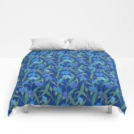 Cornflower field on bright blue Comforters